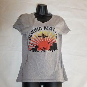 B28 Disney Womens short sleeve t shirt Medium grey
